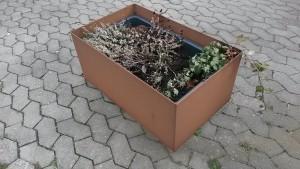 Plantekasse i cortenstål